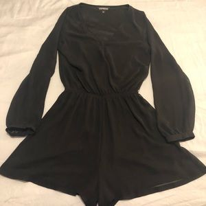 Woman's black romper